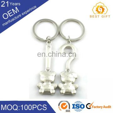 New arrival wholesale custom lether keychain & stainless steel key chain
