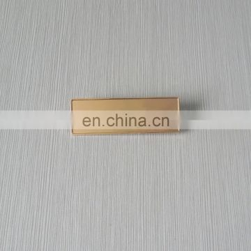 custom blank name plate gold plated information band plate with safety pin