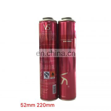 Wholesale diameter 52mm empty  aerosol tin can with paint spray