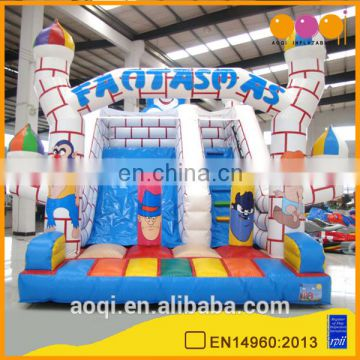 AOQI amusemnt water park castle children slide with free EN14960 certificate