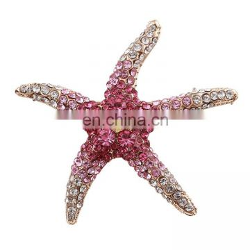 Bridal starfish brooch