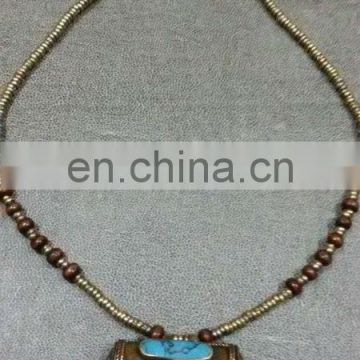 (KN-002) Afghan Tribal Best quality Gems Necklace