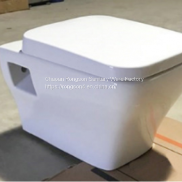 Bathroom high quality white ceramic folding wall mounted square toilet sanitary wrae american standard