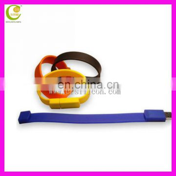 2017 new Silicone Slap Wrist Band Bracelet USB Flash Drive for best business gifts promotional