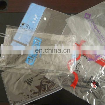 clear vinyl pvc zipper bags packing bag