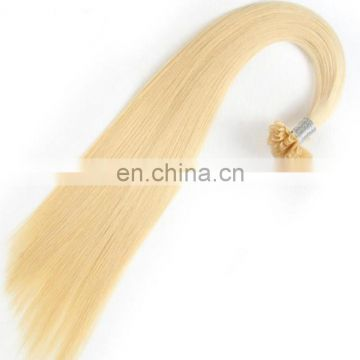 Factory cheap price blonde color U tip hair top quality brazilian human hair extension for sale