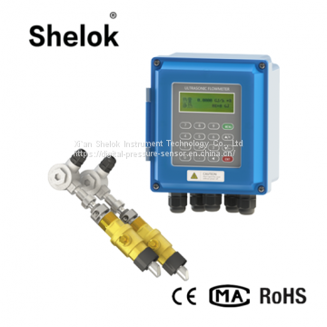 High accuracy wall-mounted fixed ultrasonic flow meter water