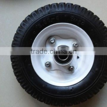 professional manufacturer steel rim plastic rim rubber wheel/ wheel barrow tyre with all size                                                                         Quality Choice