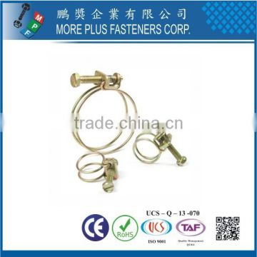 Made in Taiwan Stainless Steel DIY Hose Clamp Double Wire Spring Hose Clamp