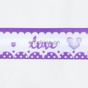 wholesale Valentine's day romantic love heat transfer printed ribbon