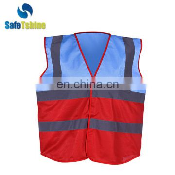 High Visibility Reflective hot selling cheap roadway 100% Polyester Mesh Traffic Vest Safety Vest