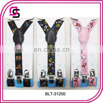 Hot sell children solid colour suspender love suspender Junior suspender