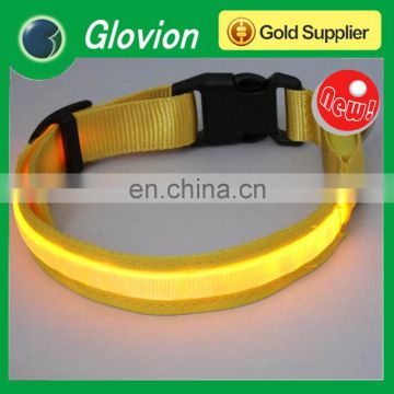 Newest super bright led pet collar light up led pet collar led flashing pet collar