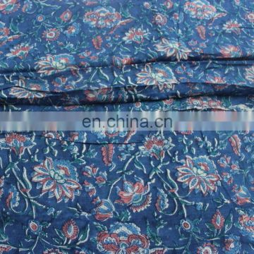 Fabric By one yards Hand Block Print Cotton fabric Voile Fabric By The Yard
