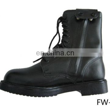 fireman leather boots with zipper