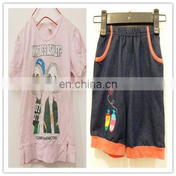 Children T-Shirts Long and short Sleeves Used Clothing from Taiwan