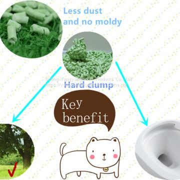 odor control tofu cat litter--green tea scent
