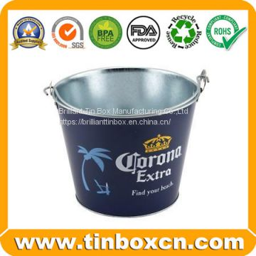 Customized Decorative  Tin Bucket,Tin Bucket, Popcorn Tin Box