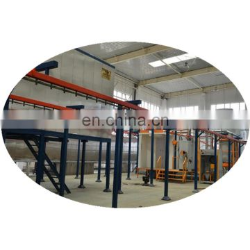 Automatic powder coating line machine for aluminum door and window