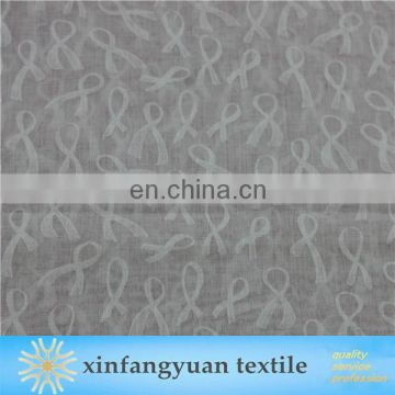 Etched-out Fabric Ribbon Design T/C Burn Out Printed Fabric