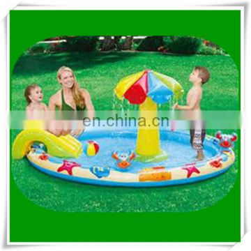 "Summer Escapes 7'7"" x 5'4"" Inflatable Beach Play Center Swimming Pool"