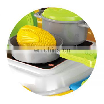 Hot sale educatioanl toy kitchen set suitcase packaging