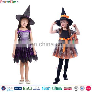 hot selling little girl witch spider web party costume suppliers wholesale kids halloween costume