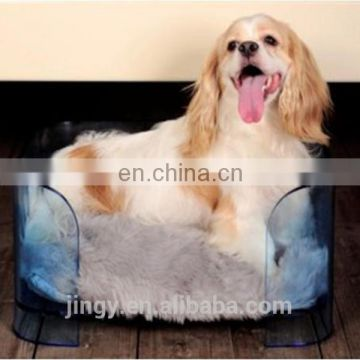 latest blue transparent acrylic non slip lucky pet dog dry bed