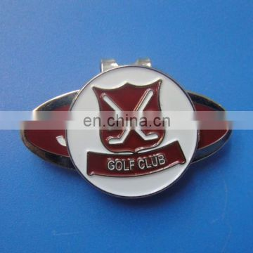 soft enamel golf club logo golf hat clip with magnetic ball marker