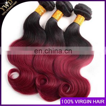 new products Ombre Peruvian Virgin Hair Red Ombre Peruvian Hair Burgundy Hair Body Wave Wavy 3pcs lot 1B Red 3Pcs Lot