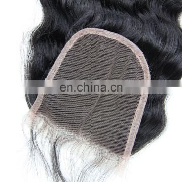 New arrival 9A grade 100% peruvian human virgin hair lace closure in deep wave free part full cuticle hair