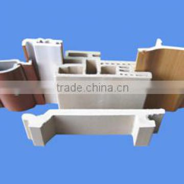 plastic extrusion mould for wpc pvc wood plastic composite skirting board/WPC Plastic Wall Skirting Mold
