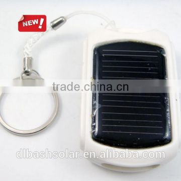 Solar power flashing USB keychain Mini usb charger
