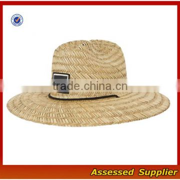 b3e905dd807 ... Australia Men Straw Lifeguard Hat With Adjustable String Summer UV  Protection Surf Straw Hat  ...