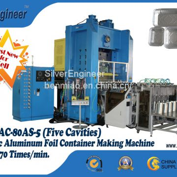 Automatic aluminum foil container production line
