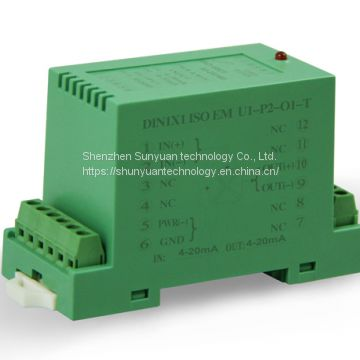 DC Current/Voltage 4-20mA/0-5V/0-10V Isolation Transmitter DIN1X1 Isoem-A7- P1- O1