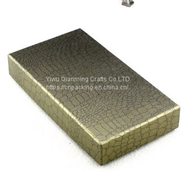Leather print short style purse zero wallet box special paper cover box gifts paper package hard box