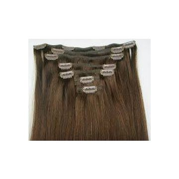 Reusable Wash Chocolate Natural Human Hair Wigs Durable Healthy