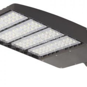 300W LED shoe box light high power parking lot 6000K IP65 3 years warranty