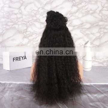 Alibaba 2018 Qingdao Factory Price cheap indian temple hair full lace wig