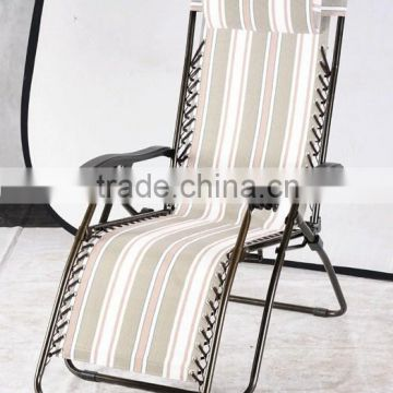 Luxury portable leisure folding metal lazy chair