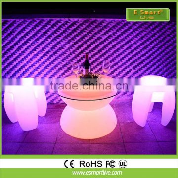 High Quality 16 color change rechargeable Bar Stool Led Stool / Led Cube Seat Lighting