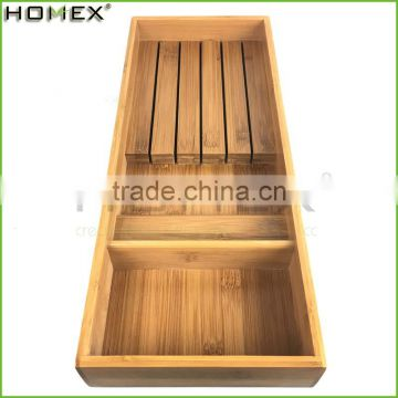 Bamboo space save kitchen knife storage holder Homex BSCI/Factory