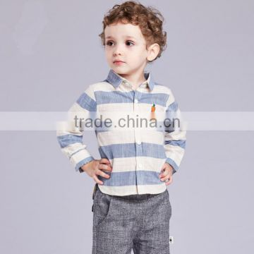 Wholesale Baby Clothes Polo Shirt Linen Autumn/Winter New Design Casual Shirt For Baby Boys