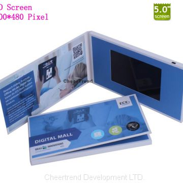5 inch video business card with LCD display
