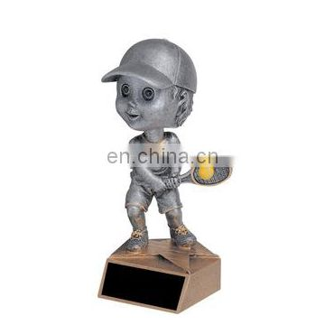tennis player figurines resin crafts