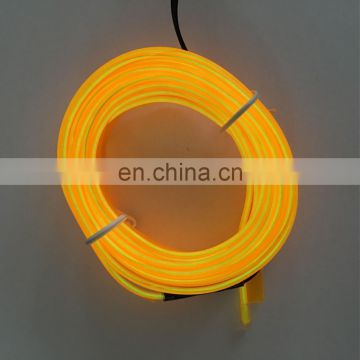 hot sale 1m 3m 5m purple el wire factory price/multi color electroluminescent wire 2.3mm 10 color