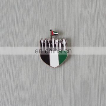 existing mould UAE seven sheikh lapel pin in stock for national day gifts