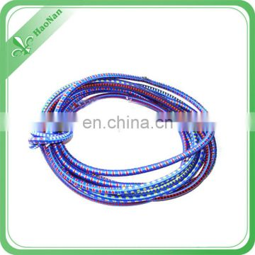 Strong elastic bungee cord, green elastic bungee cord with plastic bag hooks