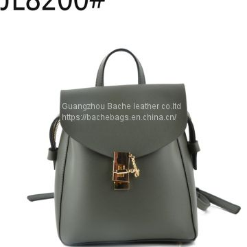 Black PU Leather BackpackJL8200#